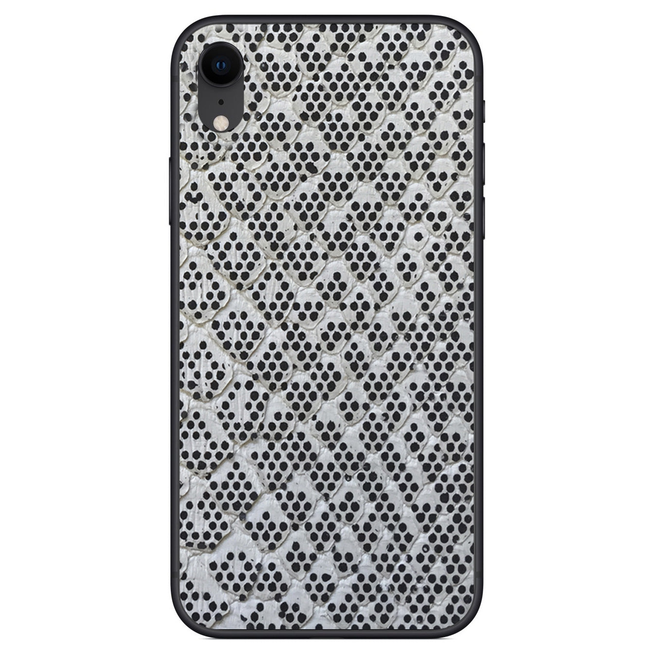 Pixelated Python Back iPhone XR Leather Skin