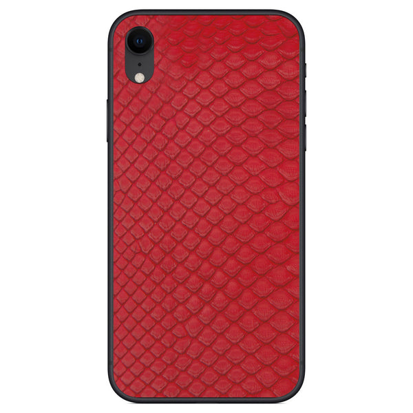 Red Python Back iPhone XR Leather Skin