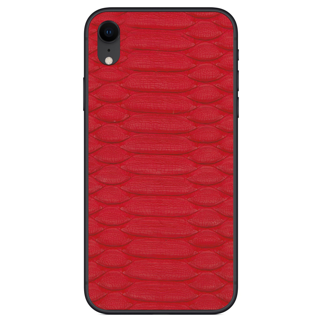 Red Python iPhone XR Leather Skin