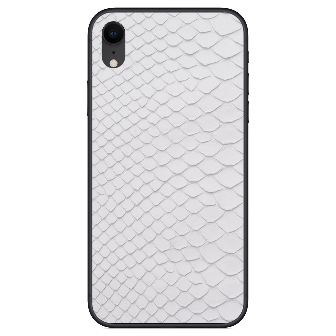 White Python Back iPhone XR Leather Skin