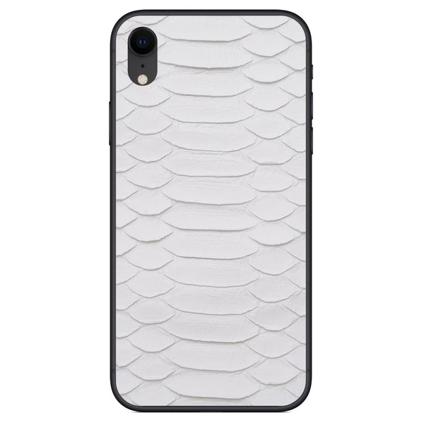 White Python iPhone XR Leather Skin