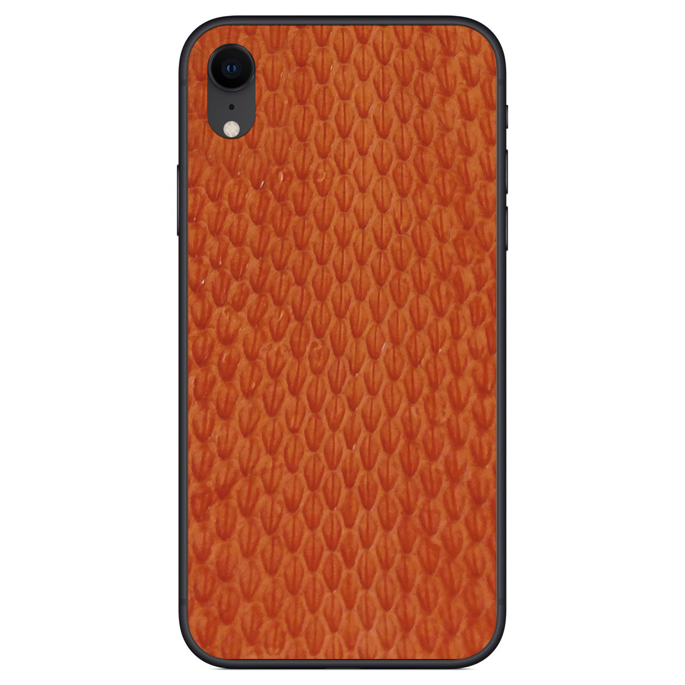 Orange Whip Snake iPhone XR Leather Skin