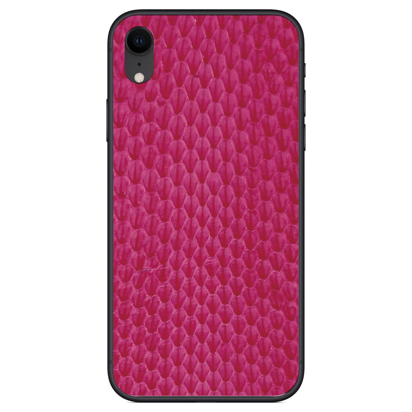 Pink Whip Snake iPhone XR Leather Skin