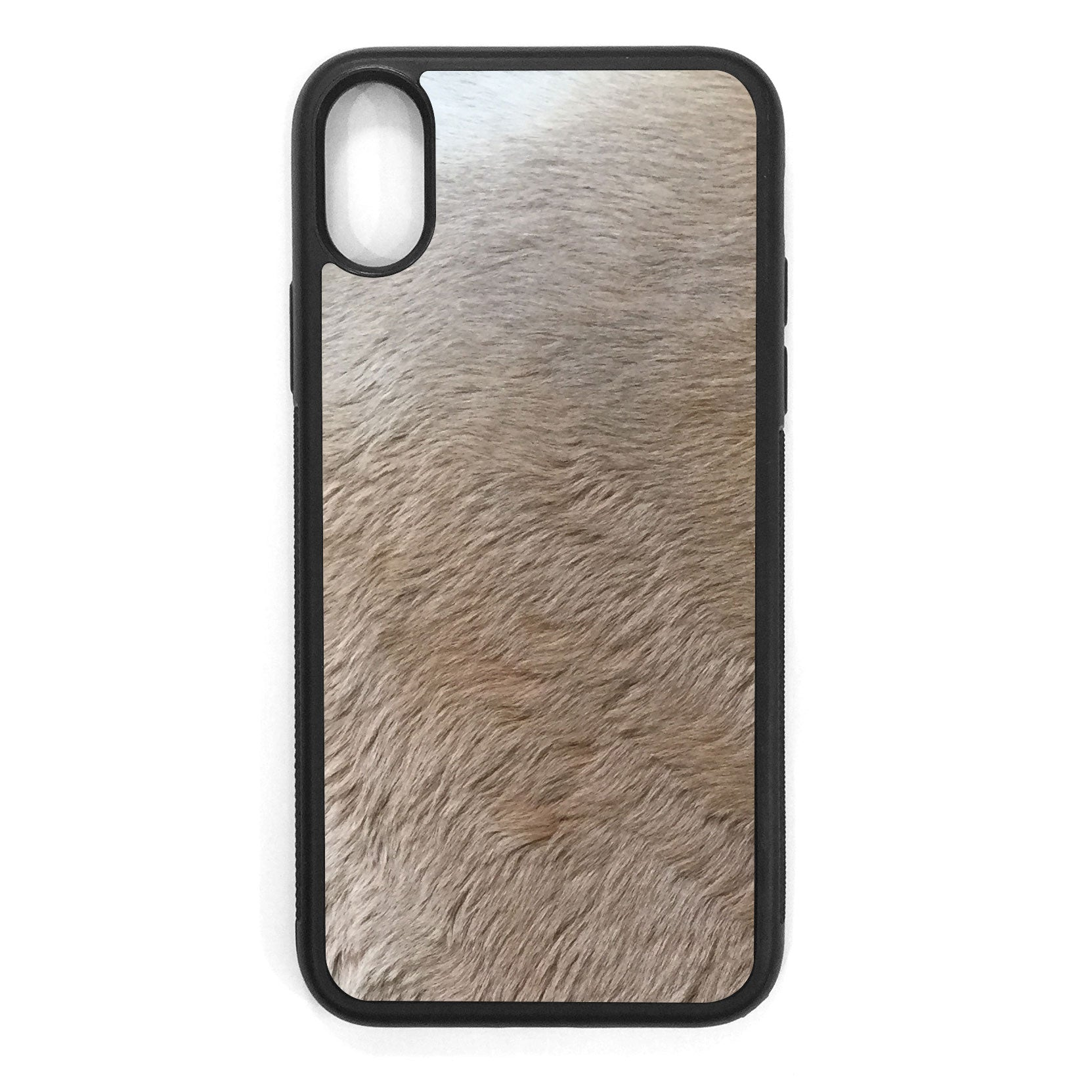 Kangaroo Fur iPhone X Leather Case