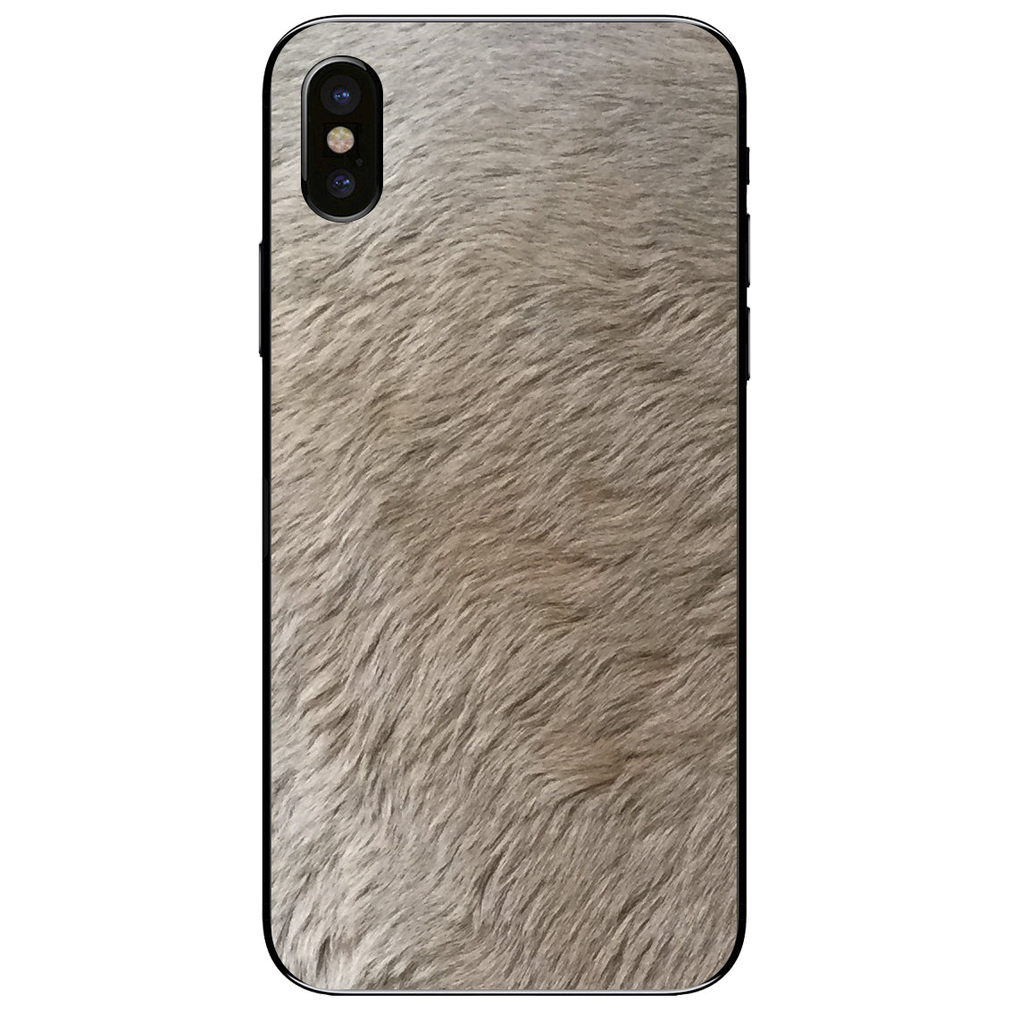 Kangaroo Fur iPhone X Leather Skin