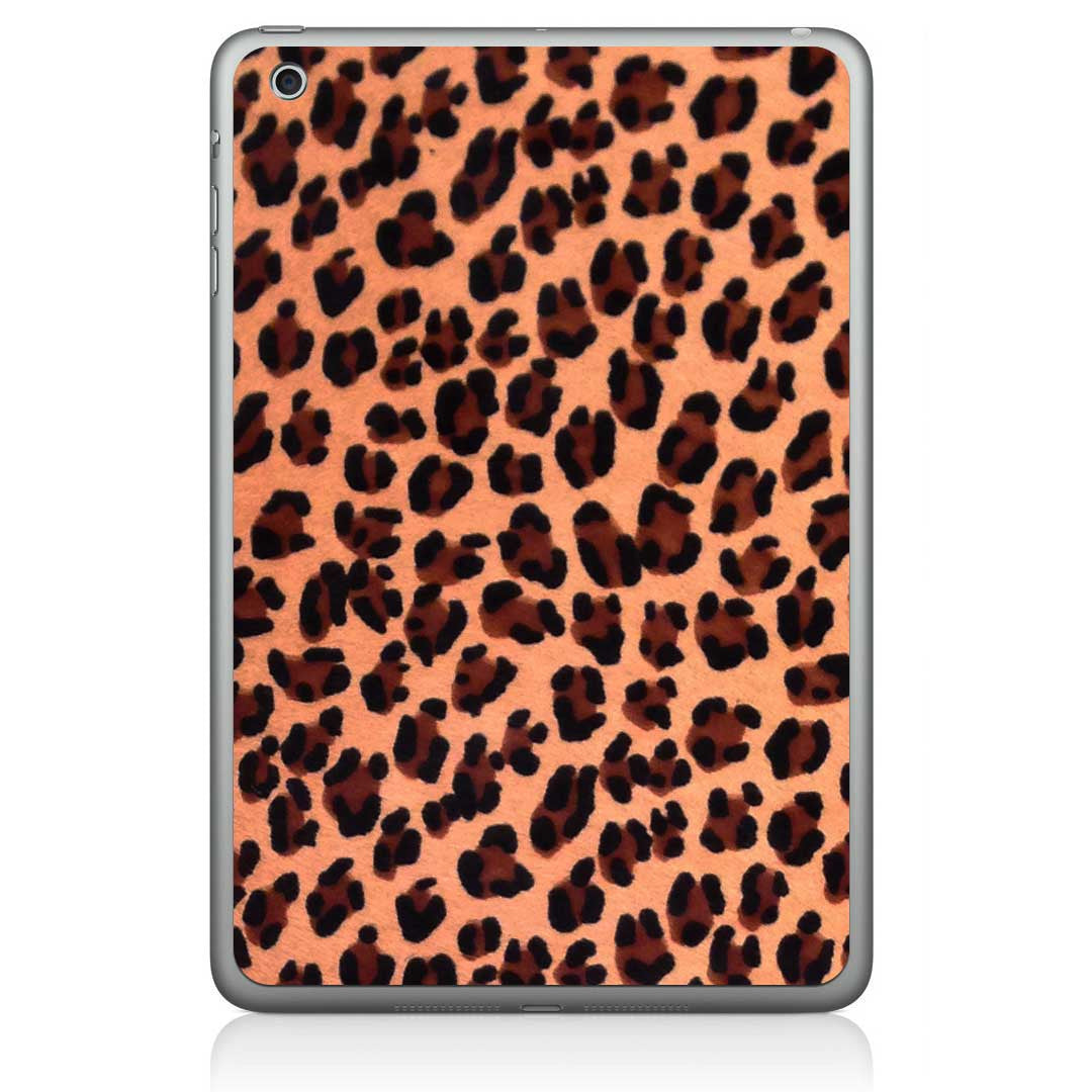 Leopard Print Pony Hair iPad Mini Leather Skin