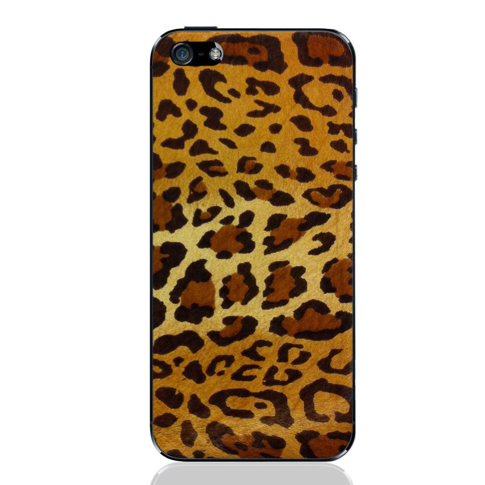 Leopard Pony Hair iPhone 5 - 5S - SE Leather Skin