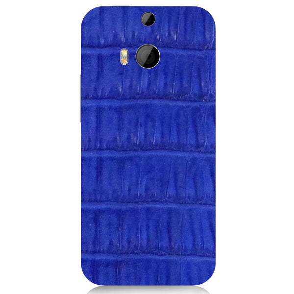 Cobalt Crocodile HTC M8 Leather Skin