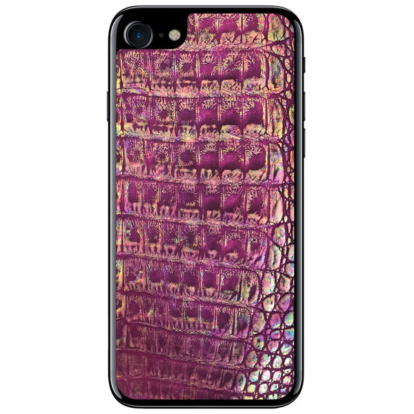 Metallic Purple Crocodile iPhone 8 Leather Skin