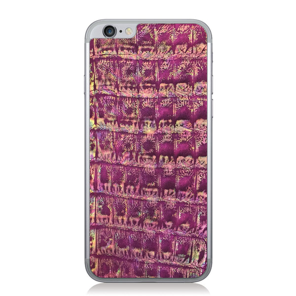 Metallic Violet Crocodile iPhone 6/6s Leather Skin