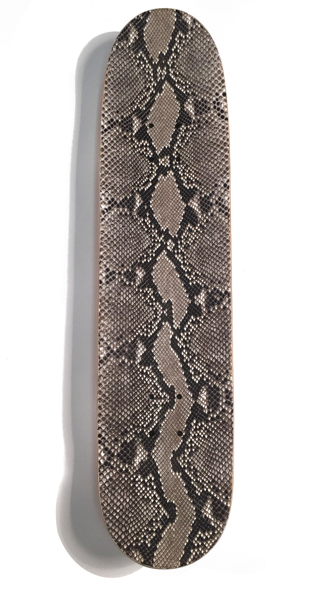 Python Leather Skateboard Deck - Top