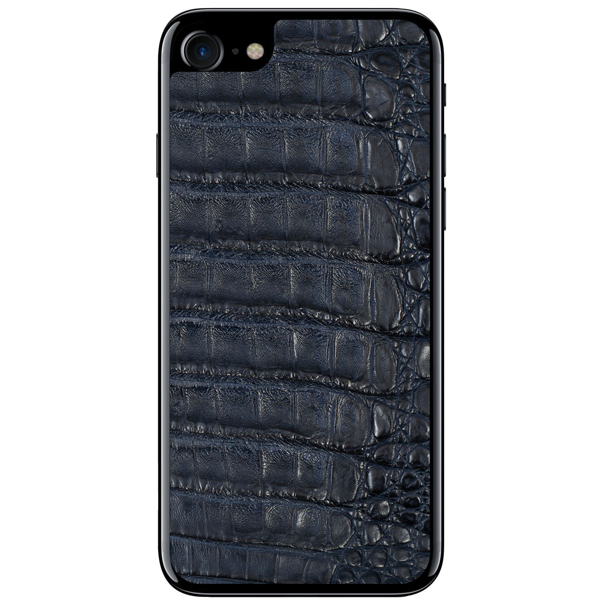 Navy Crocodile iPhone 8 Leather Skin
