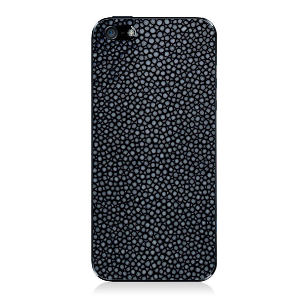 Polished Navy Stingray iPhone 5 - 5S - SE Leather Skin