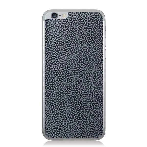 Polished Navy Stingray iPhone 6/6s Leather Skin