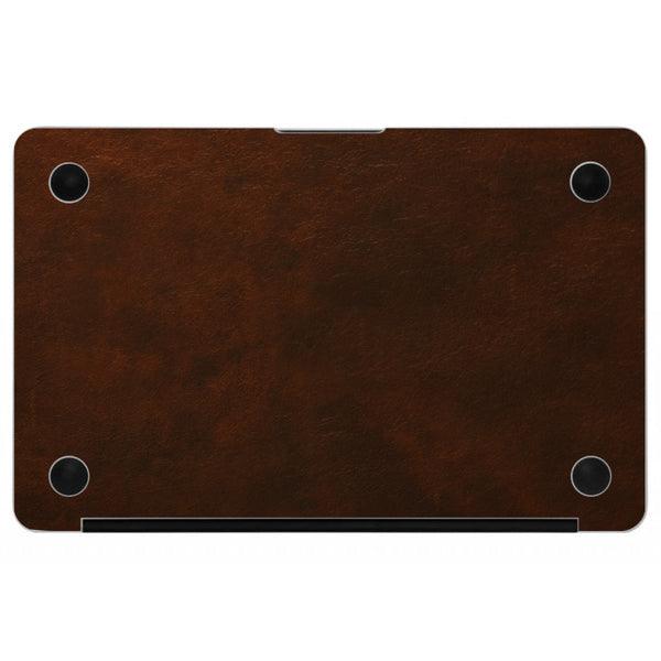 Oil Stained Brown MacBook Leather Bottom Cover