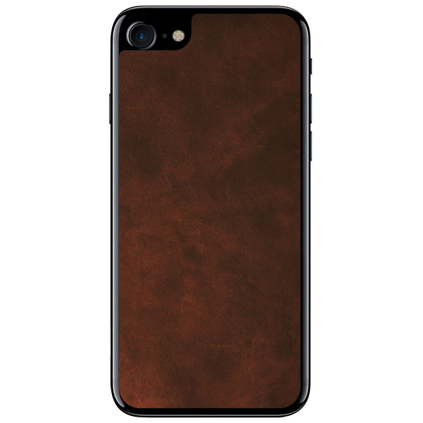 Oil Stained Brown iPhone 8 Leather Skin