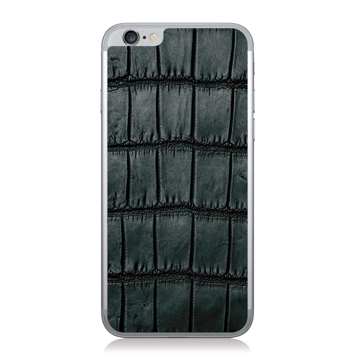Black Oiled American Alligator iPhone 6/6s Leather Skin
