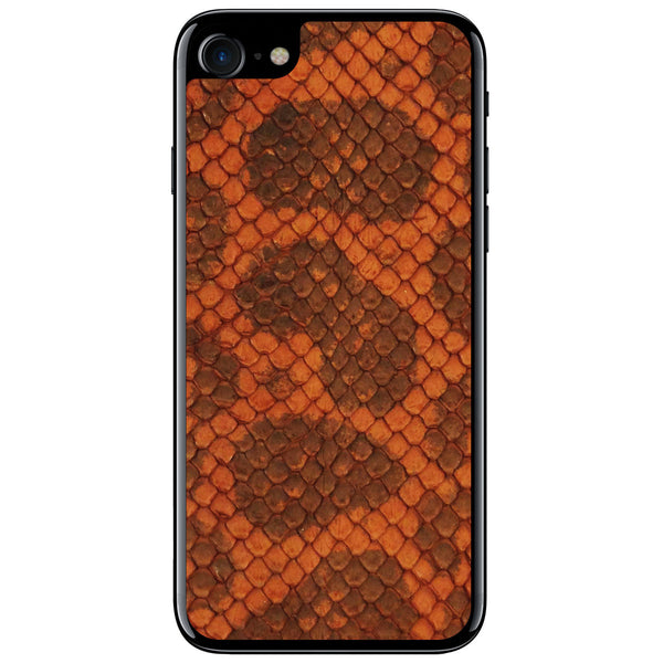Burnt Orange Anaconda iPhone 7 Leather Skin
