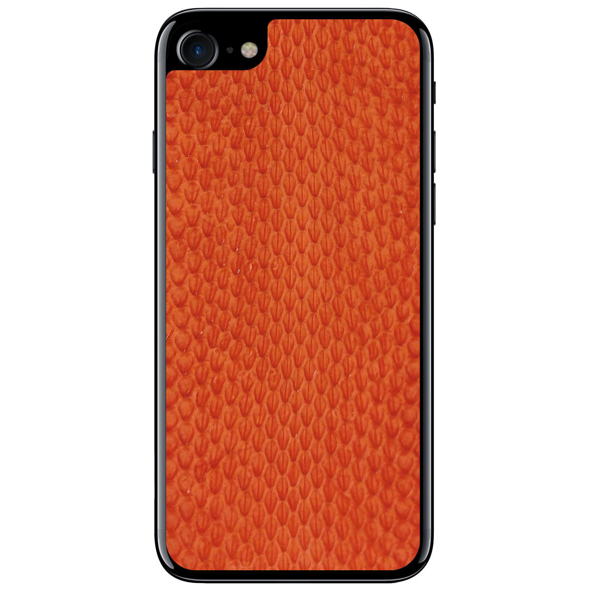 Orange Whip Snake iPhone 7 Leather Skin
