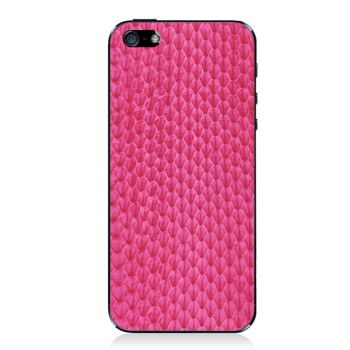 Pink Whip Snake iPhone 5 - 5S - SE Leather Skin