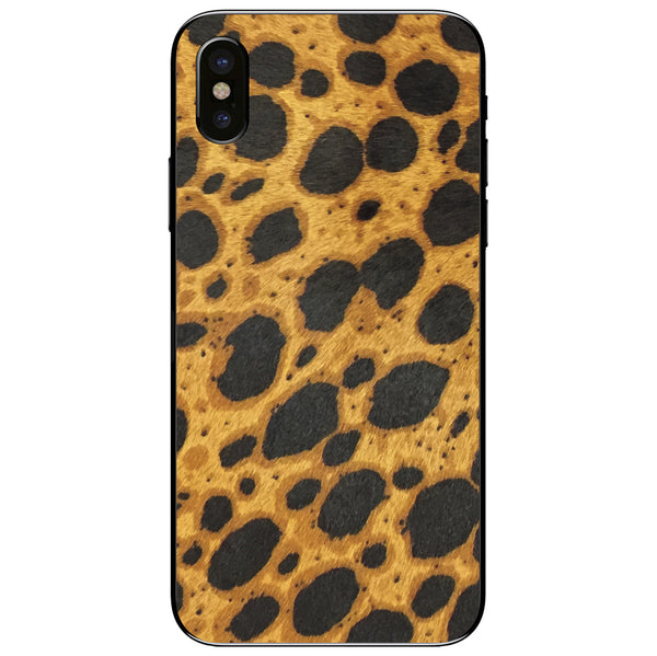 Cheetah Print Calf Hair iPhone XS Leather Skin