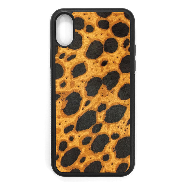 Cheetah Pony Hair iPhone X Leather Case