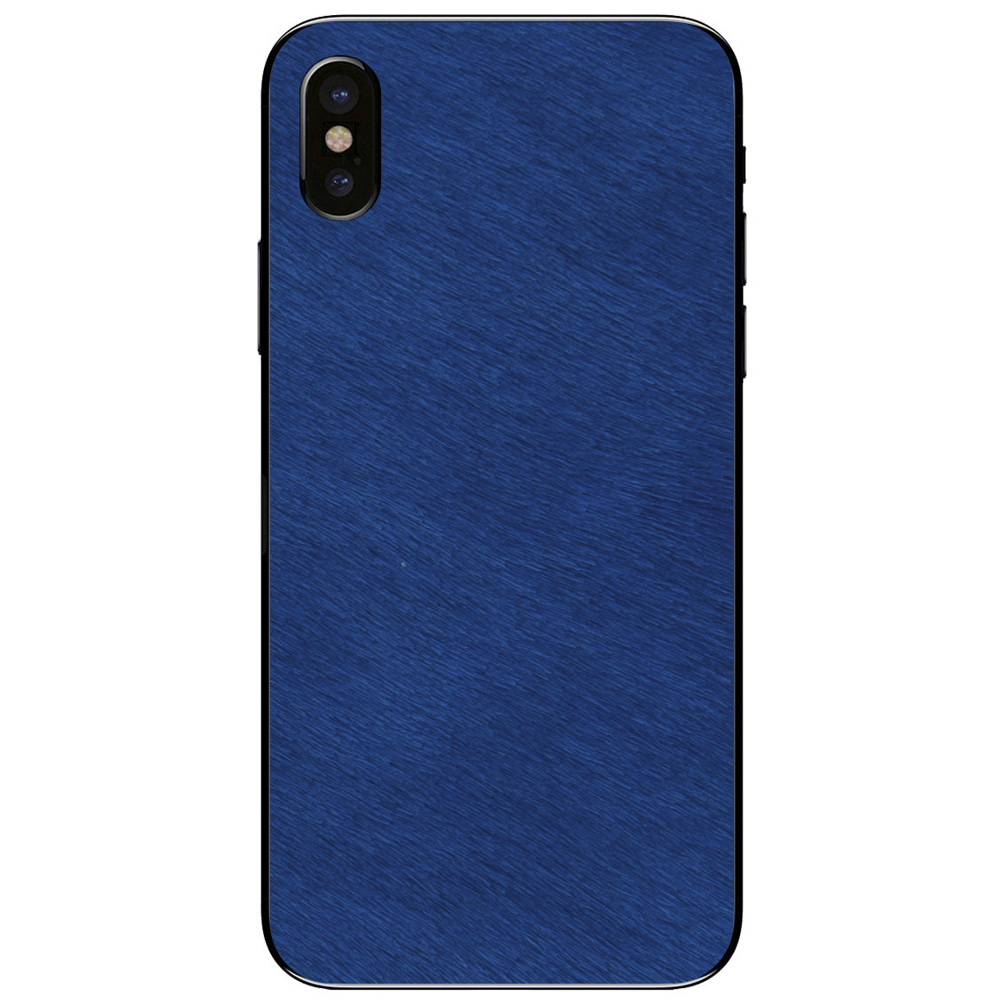 Cobalt Calf Hair iPhone X Leather Skin