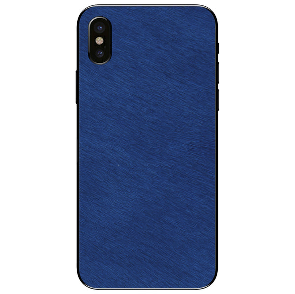 Cobalt Calf Hair iPhone XS Leather Skin