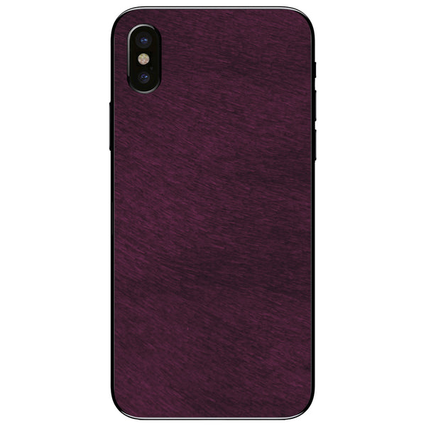 Violet Print Calf Hair iPhone XS Leather Skin