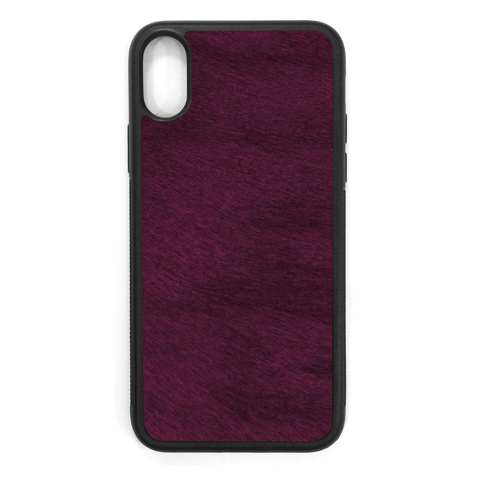 Violet Pony Hair iPhone X Leather Case
