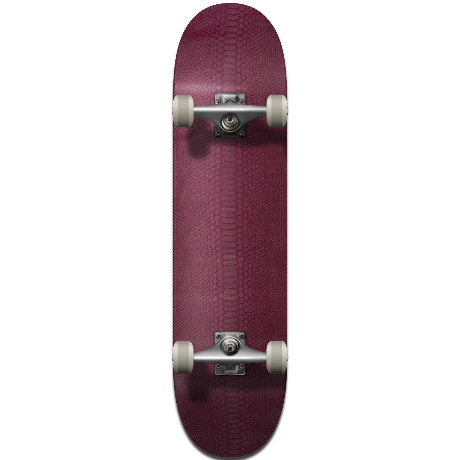 Violet Python Leather Skateboard Deck - Bottom