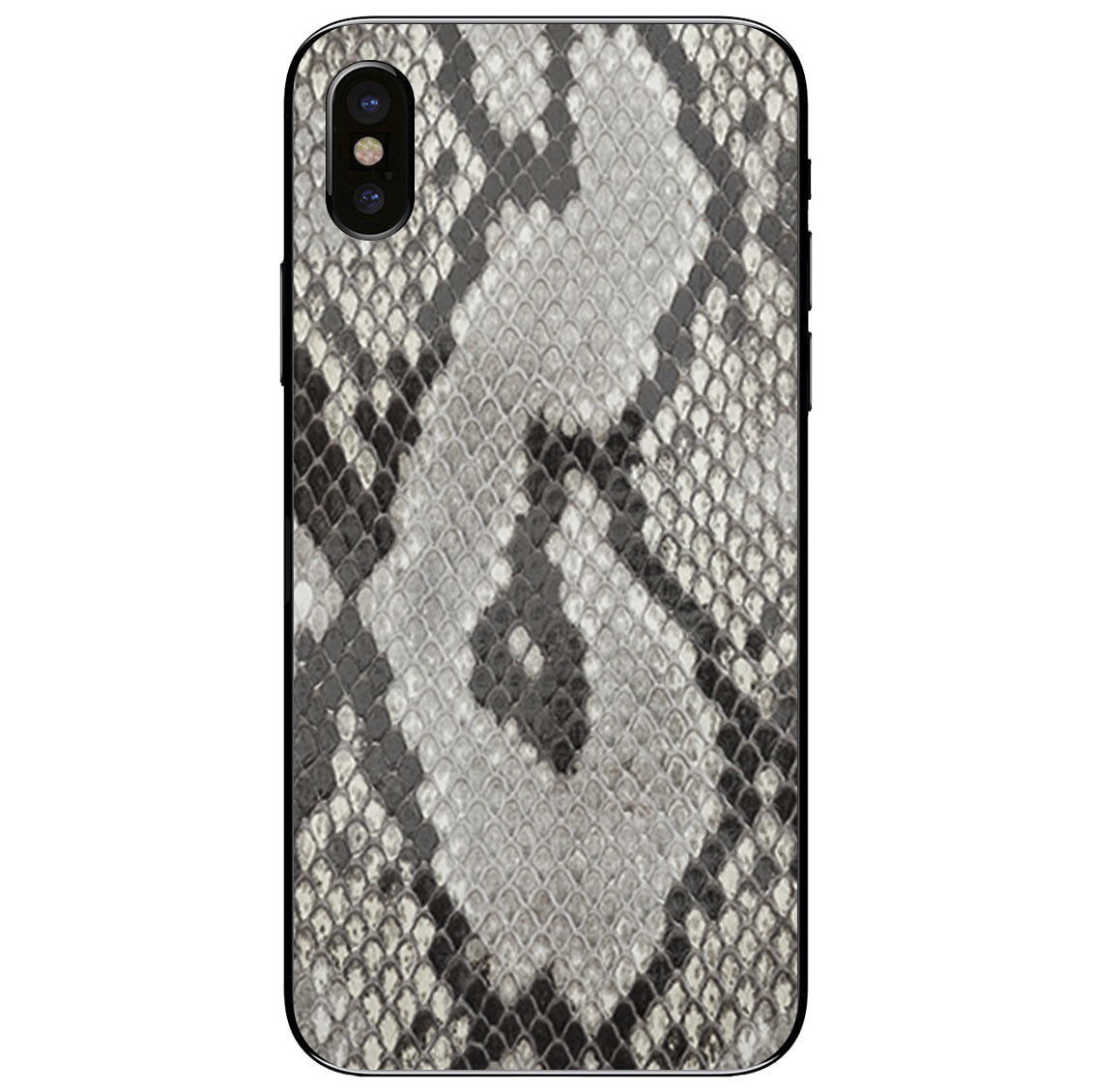 Python Back iPhone XS Leather Skin