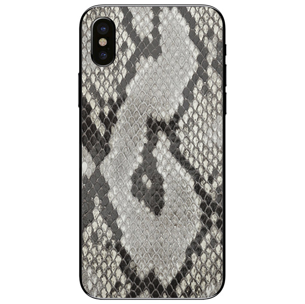 Python Back iPhone X Leather Skin