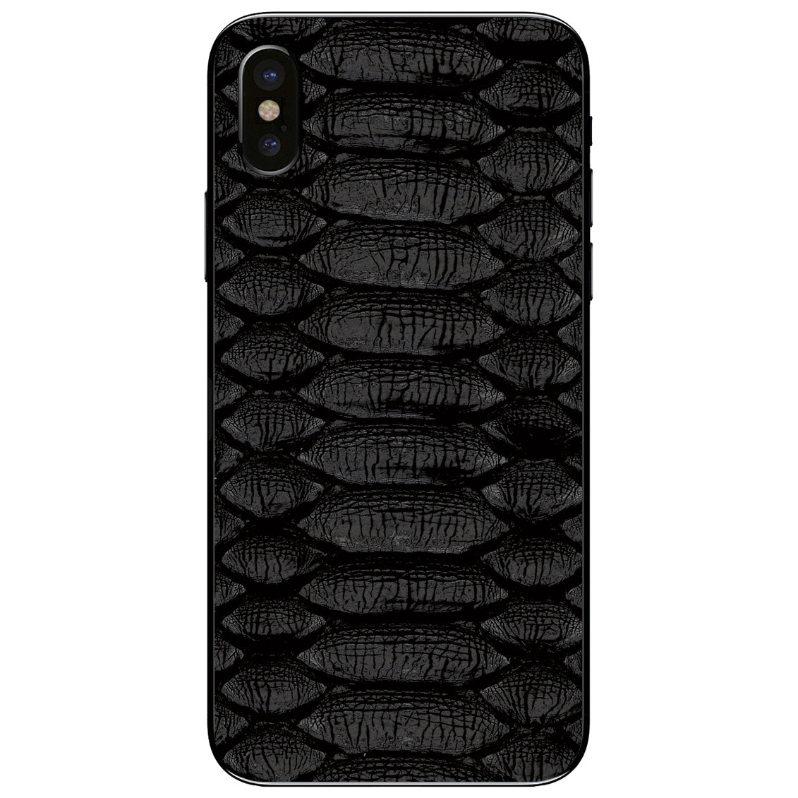 Black Python iPhone X Leather Skin