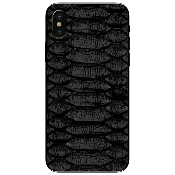 Black Python iPhone XS Leather Skin