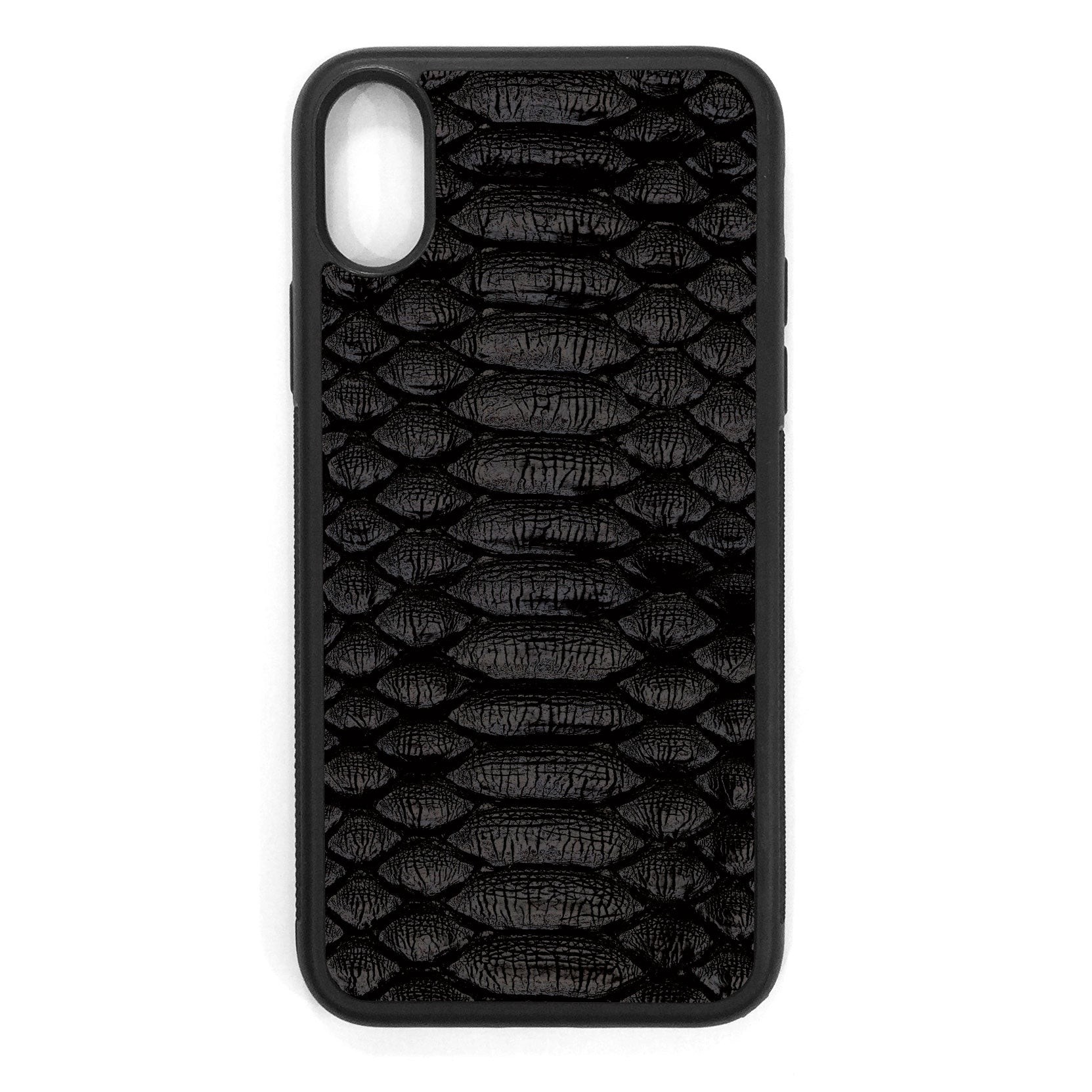 Black Python iPhone X Leather Case
