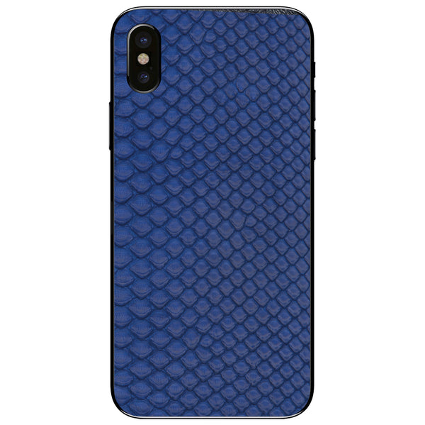 Cobalt Python Back iPhone X Leather Skin