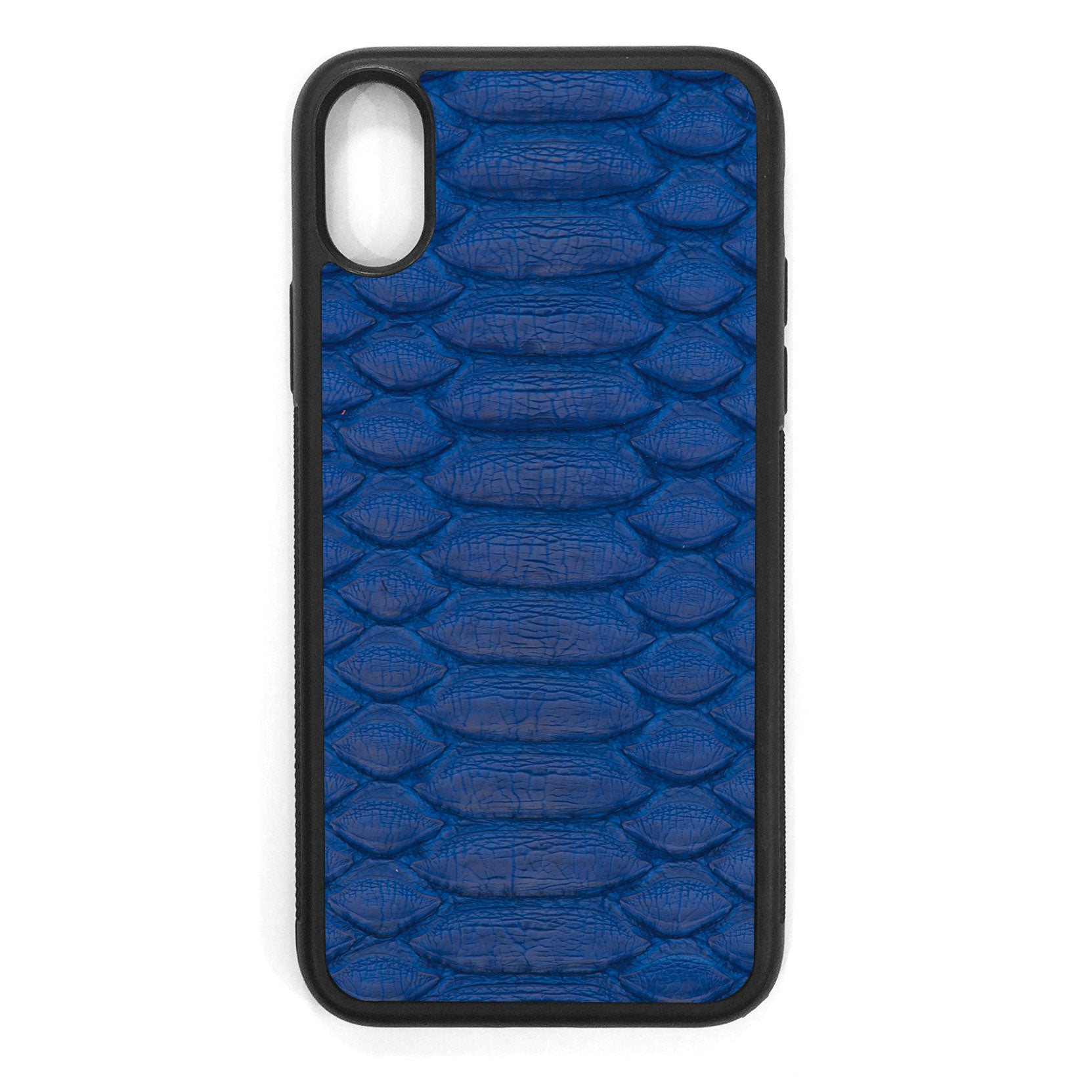 Cobalt Python iPhone XS Leather Case