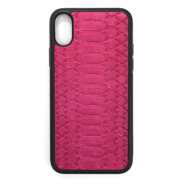 Fuchsia Python iPhone XS Leather Case