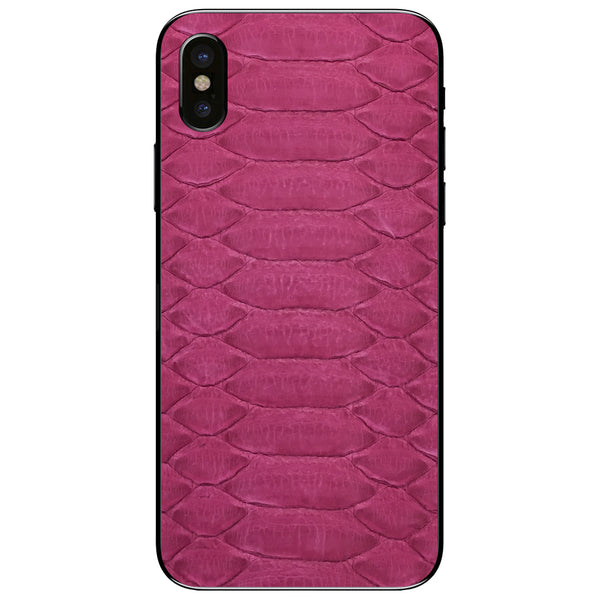 Fuchsia Python iPhone XS Leather Skin