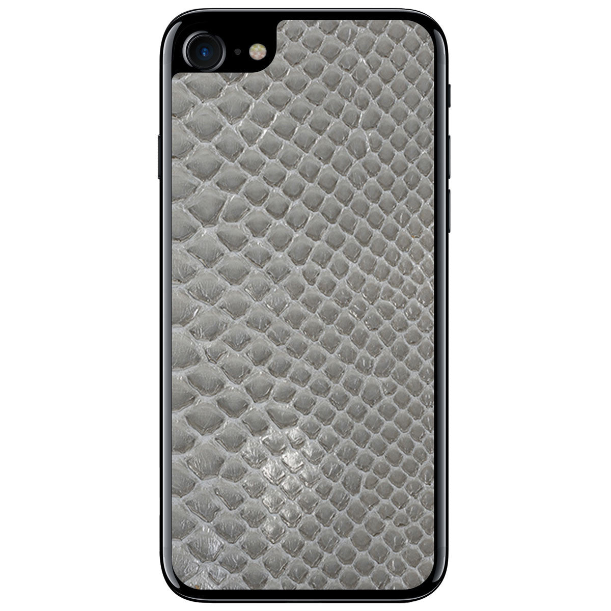 Gloss Gray Python iPhone 8 Leather Skin