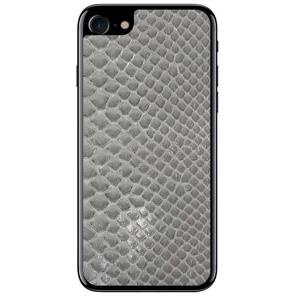 Gloss Gray Python iPhone 7 Leather Skin