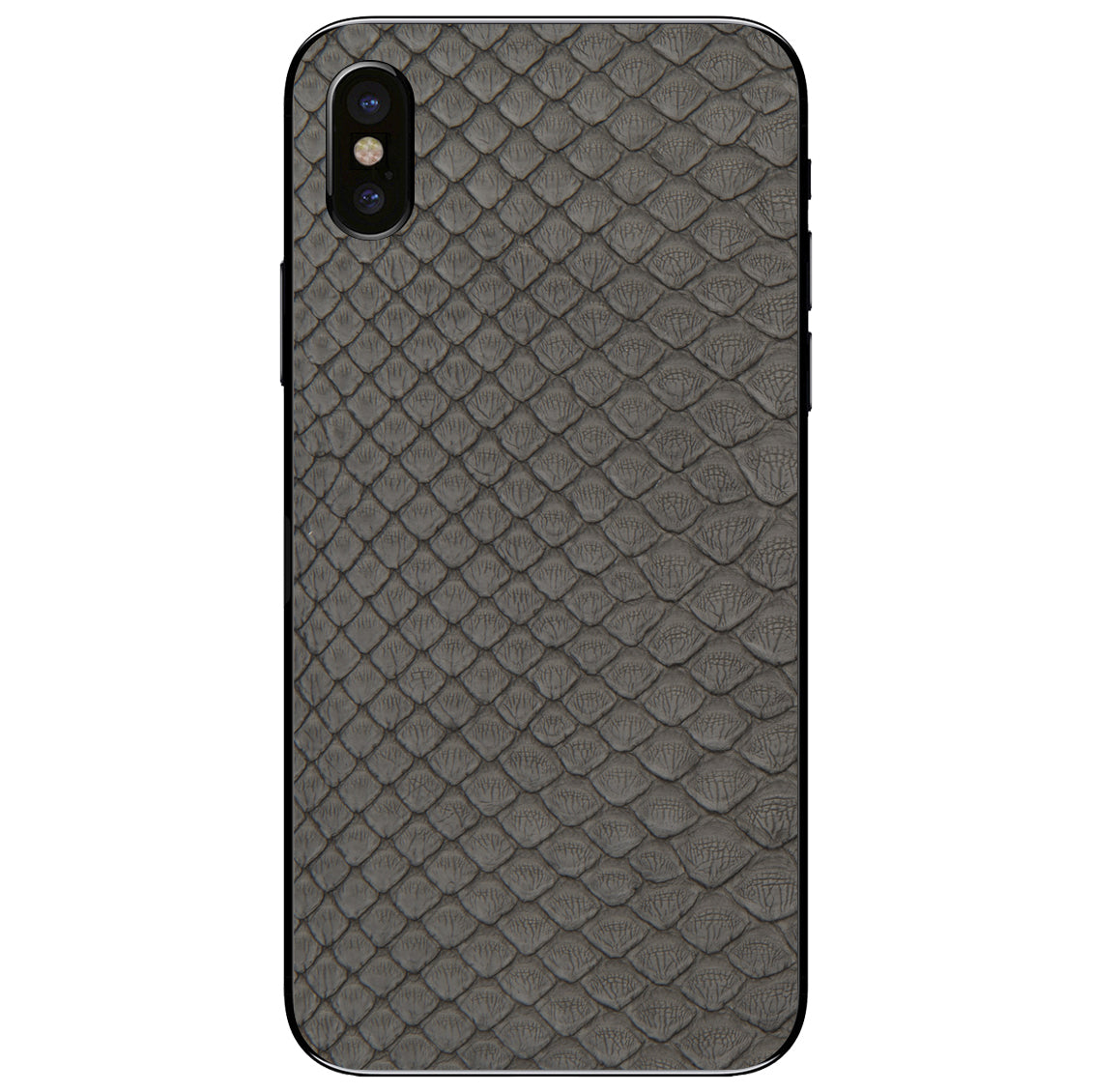 Gray Python Back iPhone X Leather Skin