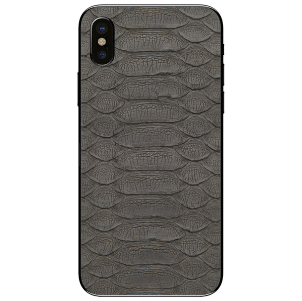 Gray Python iPhone XS Leather Skin