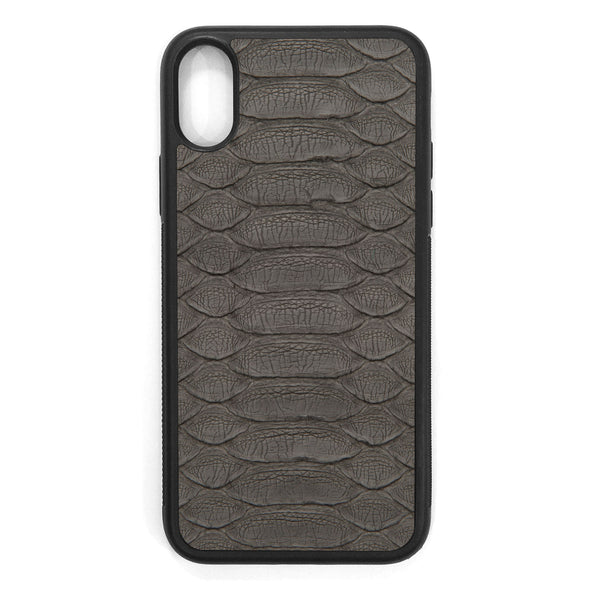 Gray Python iPhone XS Leather Case