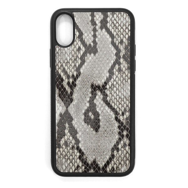 Gloss Python Back iPhone XS Leather Case