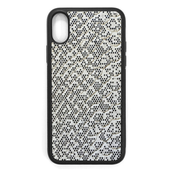 Pixelated Python Back iPhone XS Leather Case