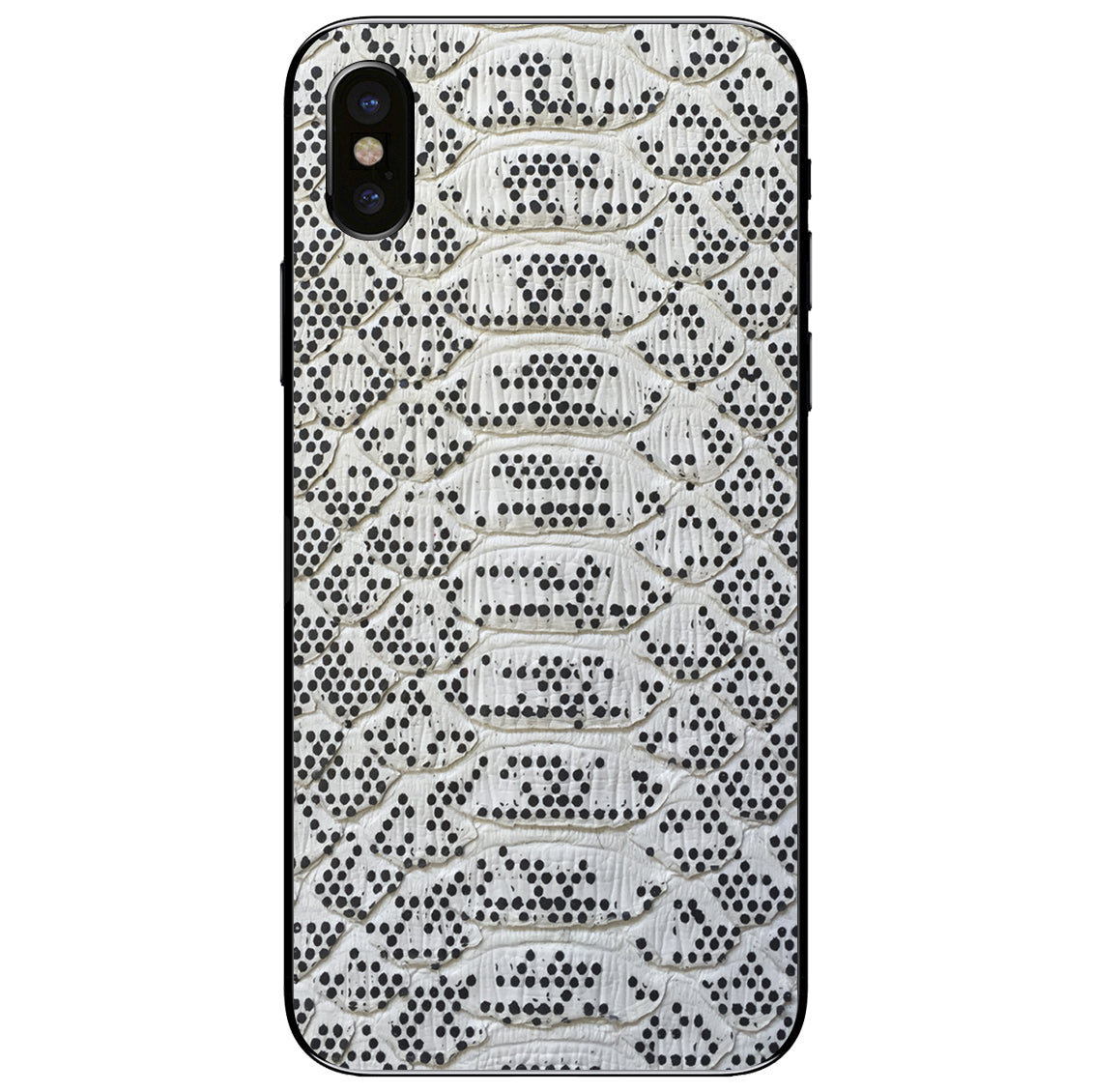 Pixelated Python iPhone XS Leather Skin
