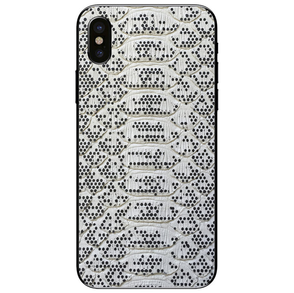 Pixelated Python iPhone X Leather Skin