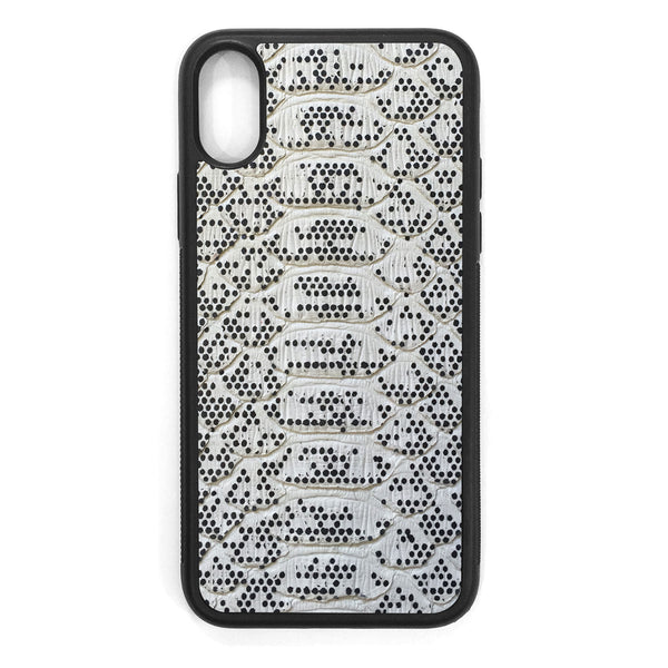Pixelated Python iPhone XS Leather Case